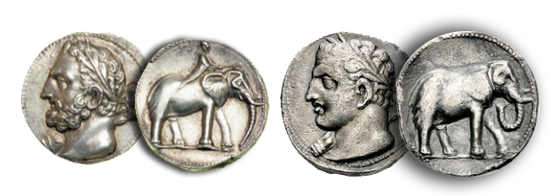 ele8 Elephants on Ancient Coins