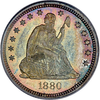 gardner1880quarter The Incredible Eugene Gardner Collection, part 3: Stunning, Classic U.S. Silver Coins
