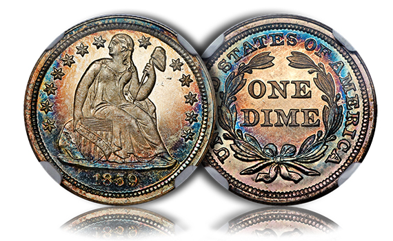 gardnerproofdime The Incredible Eugene Gardner Collection, part 3: Stunning, Classic U.S. Silver Coins