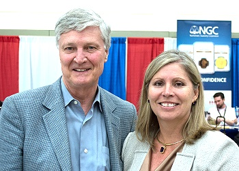 Former Congressman Jimmy Hayes (right) and ICTA Executive Director Kathy McFadden (left).