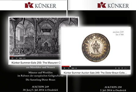 Rare Coin Sale: YouTube Videos Highlight upcoming Künker Summer Auctions