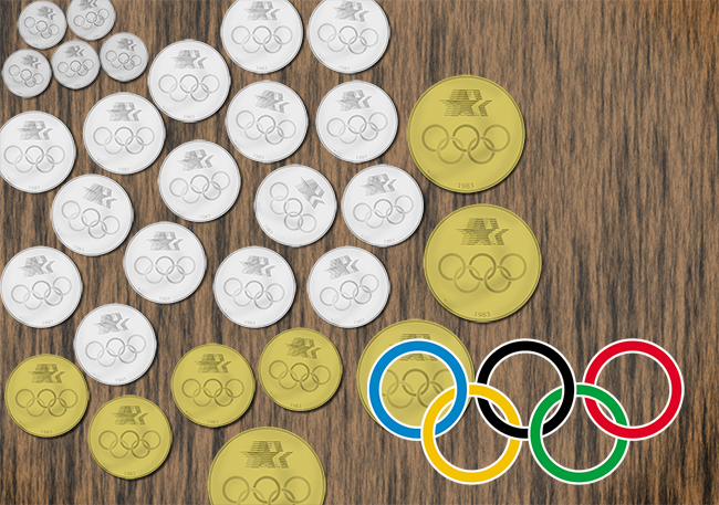 olypmics84 Commemorative Stories: The 1983 84 LA Olympics Coins   Part I