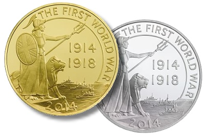rm wwi 5oz The Royal Mint's premier UK coins  commemorate the outbreak of the First World War