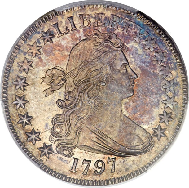 1797 norweb obv The Norweb 1797 Half Dollar, among the top five of the entire Draped Bust 'Small Eagle' type