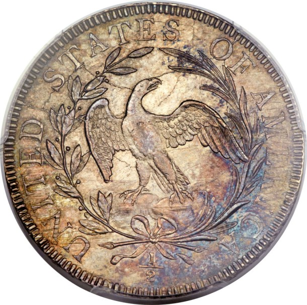1797 norweb rev The Norweb 1797 Half Dollar, among the top five of the entire Draped Bust 'Small Eagle' type