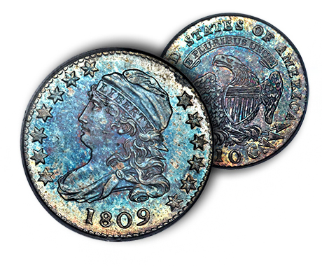 1809dime Dimes of 1809   A Key in the Capped Bust Dime Series