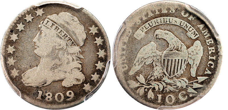 1809dimeg06 Dimes of 1809   A Key in the Capped Bust Dime Series