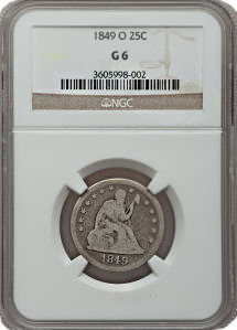 18690g06 Key 1849 O Quarter in SBG Auction, an Unnoticed Rarity