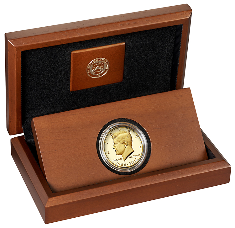 2014 Kennedy 50th Gld Prf Pkg Open angle less yellow The Coin Analyst: A Second Look at the Prospects for the Gold Kennedy Coins
