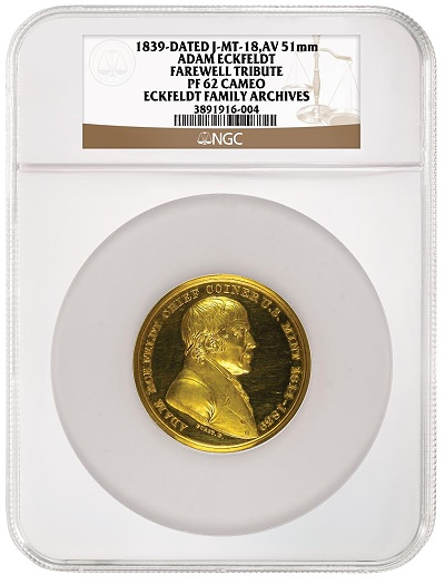 Eckfeldt medal ngc Coin Show Exhibits: NGC to Display Eckfeldt Family Archive Selections at ANA
