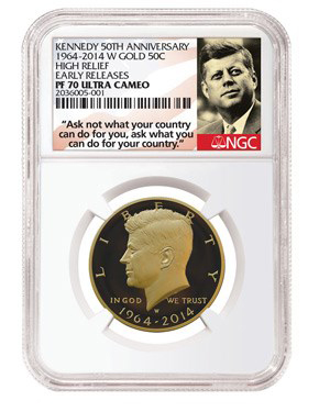 JFKLabels AskNot WhiteCore  Kennedy Anniversary Commemorative News: NGC Labels Announced