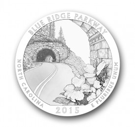 blueridge25 275x258 U.S. Mint Offers First Look at 2015 America the Beautiful Quarters® Designs
