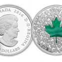 canada2014mapleleafgreen 125x125 Innovation Meets Tradition as Royal Canadian Mint collector Coins Celebrate Time Honored Symbols of Canada