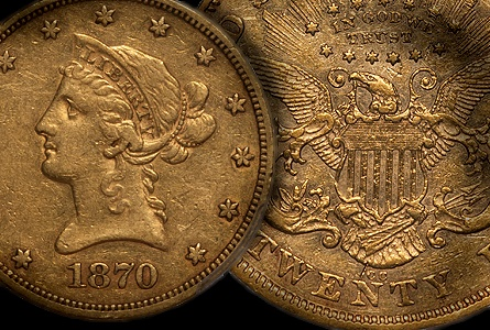 dw 1870 cc 10+20 US Gold Coins: Are 1870 CC Eagles Undervalued in Comparison to their Double Eagle Counterparts?