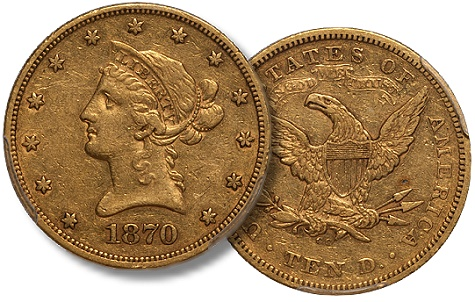 dw 1870 cc 10 US Gold Coins: Are 1870 CC Eagles Undervalued in Comparison to their Double Eagle Counterparts?