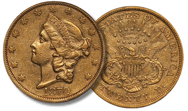 dw 1870 cc 20 US Gold Coins: Are 1870 CC Eagles Undervalued in Comparison to their Double Eagle Counterparts?