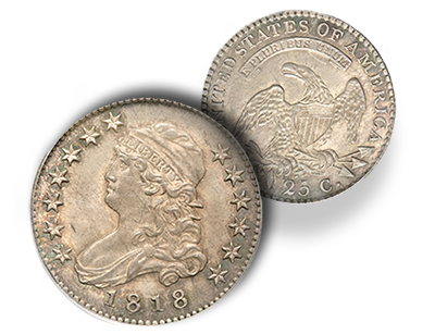 eliasberg1818over5 The Spectacular Newman Jung Coin and other 1818/5 Capped Bust Quarters