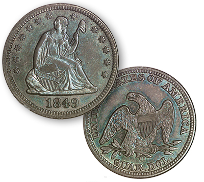 gardner1849o Key 1849 O Quarter in SBG Auction, an Unnoticed Rarity