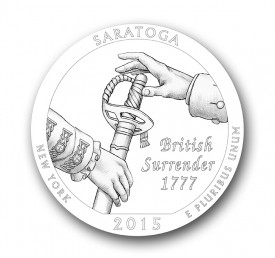 saratoga25 275x258 U.S. Mint Offers First Look at 2015 America the Beautiful Quarters® Designs