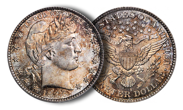 1896SBARBERSBG Key 1896 S Barber Quarter in Stacks Bowers Auction, A Tremendous Condition Rarity