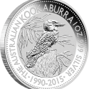 23 2015 AusKookaburra Silver 1oz Bullion OnEdge LowRes 125x125 Perth Mint Unveils Australian 2015 Bullion Coin Program (with Video)