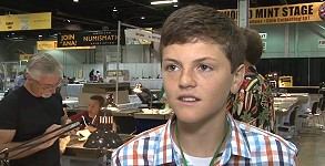 Graham Ryan collector Young Coin Collector Buys Gem Peace Dollar at ANA Convention. VIDEO: 3:26.