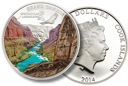 New $5 Coin from Cook Islands Offers a Color View of the Grand Canyon