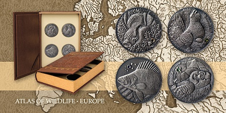 moneda nueva wildliife World Coins: ATLAS OF WILDLIFE   First Issue of New Coin Series!