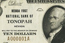Serial Number 1 National Currency from Nevada with Could Bring $50K in Heritage Currency Auctions