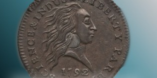 1792 silver-center Cent at Heritage's September Long Beach Auctions