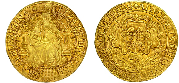 CHARLES II 1678/7 5 GUINEAS 8 OVER 7, SECOND BUST.