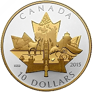 1/2 oz. Fine Silver Gold-Plated Coin - Celebrating Canada - See more at: http://www.mint.ca/store/coins/12-oz.-fine-silver-goldplated-coin-celebrating-canada-mintage-8000-2015-prod2150108#.VCLz4Fe8FIo
