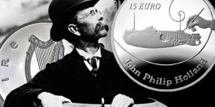 Central Bank of Ireland Issues Commemorative Coin in Honor of Submarine Inventor John Philip Holland