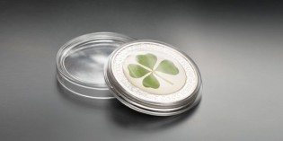 Lucky: Palau Silver Coin Features Real Four Leaf Clover