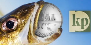 "Krause Coin of the Year Award: Royal Canadian Mint Portrayal of Father and Child Fishing Nets ""Most Inspirational Coin"""