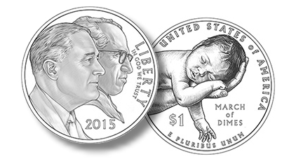 U S Mint March Of Dimes Announce Commemorative Coin Design