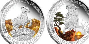 Perth Mint Unveils Two-Coin 2015 Year of the Goat Silver Coin Set