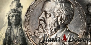 Stack's to Offer Rare Newly Discovered Silver Benjamin Harrison Indian Peace Medal