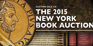 Kolbe & Fanning Announce the 2015 New York Book Auction