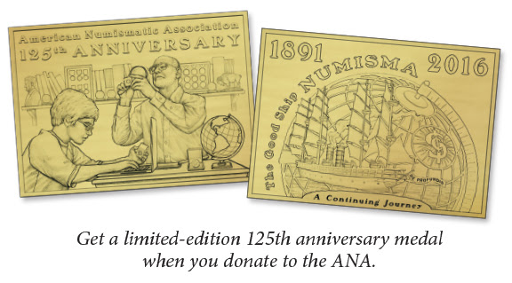 ANA 125th anniversary medal giveaway