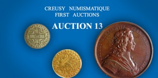 Creusy Numismatique's to Auction 244 Gold and Silver World Coins in January