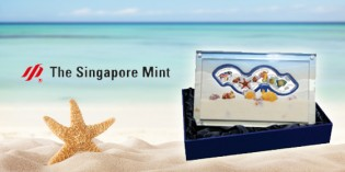 Singapore Mint Debuts Wave-Shaped 4 Coin Silver Proof Set