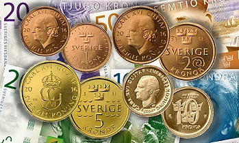 New Set Of Swedish Coins And Bank Notes In 2015