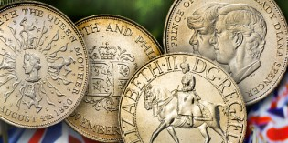 The Royal Mint Reunites Four Decimal Crown Coins to Mark a Decade of Royal Occasions