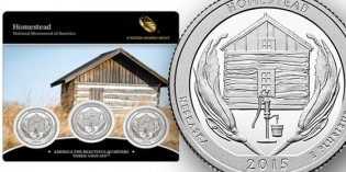 2015 America the Beautiful Quarters Three-Coin Set™ – Homestead National Monument of America Available March 3