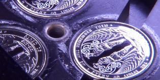 Watch the making of New Zealand's first ever circulating colored coin