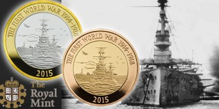 The Royal Mint commemorates the 100th Anniversary of the First World War with the Royal Navy 2015 UK £2 Coin
