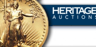 Heritage Auctions Awards 20th Mint State High Relief $20 to Ohio Collector