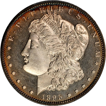 1895 Morgan Silver Dollar. Proof-64 Cameo (PCGS). CAC.