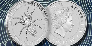Perth Mint Releases New Funnel-Web Spider Bullion Coins